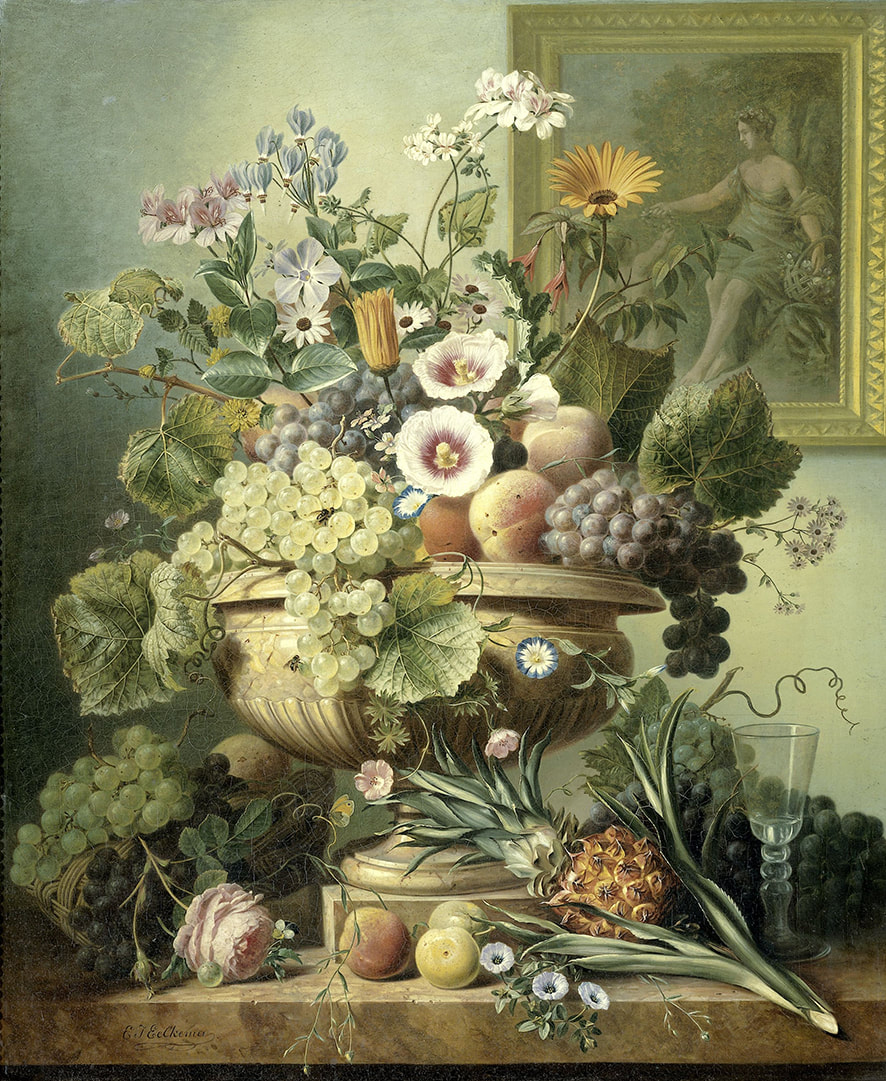 Still life by Eelke Jelle Eelkesma | 1815-1830 | via Rijksstudio // A Rookie's guide to flower care by House of Thol