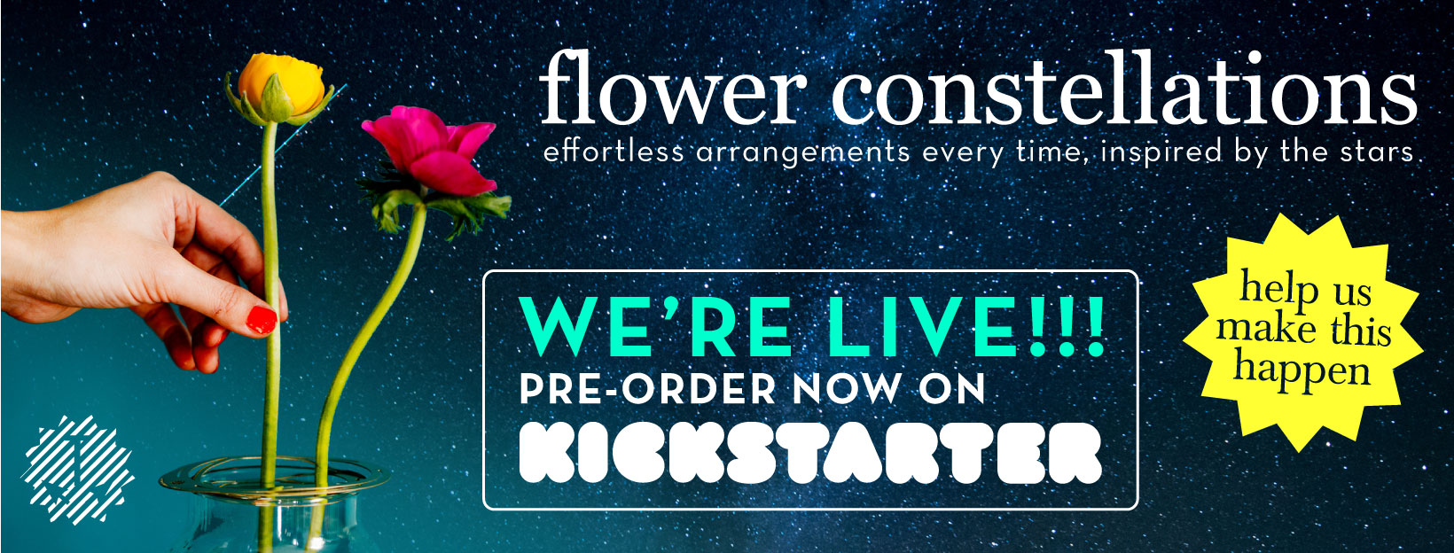 Flower Constellations / Effortless arrangements, inspired by the stars - pre-order now on Kickstarter