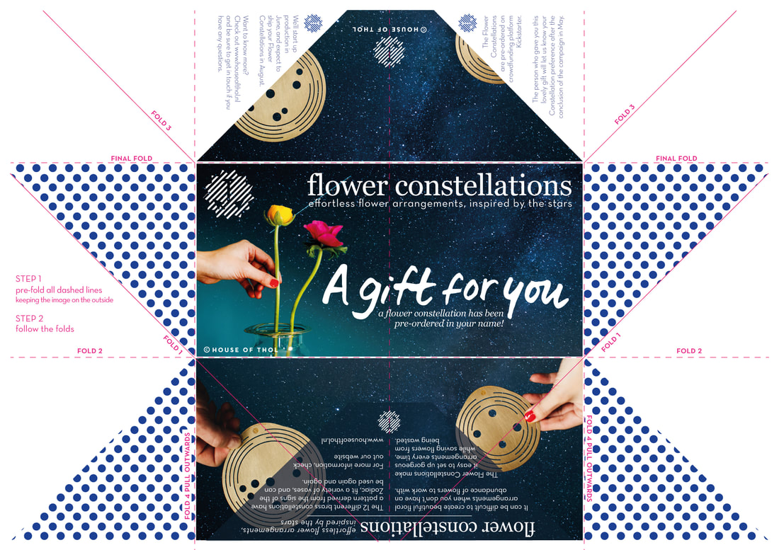 Free printable Flower Constellation gift voucher - fold away! / By House of Thol