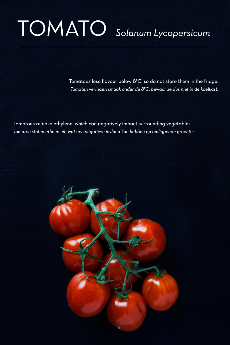 Poma/Olera: keep fruits and vegetables fresh for longer // research: tomato - By House of Thol