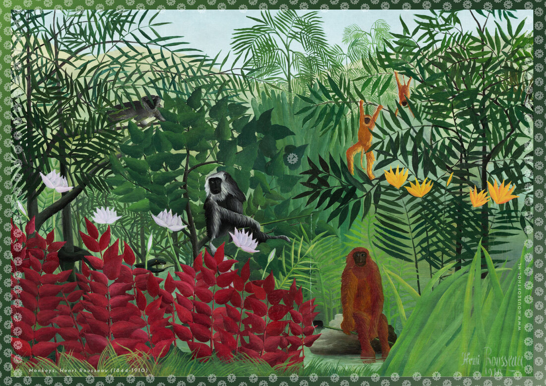 House of Thol wrapping paper: Monkeys by Henri Rousseau