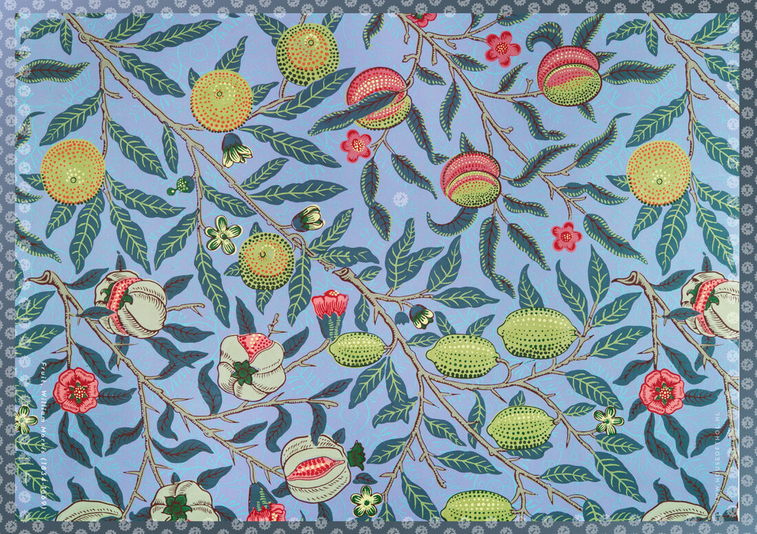 House of Thol wrapping paper: Fruit by William Morris