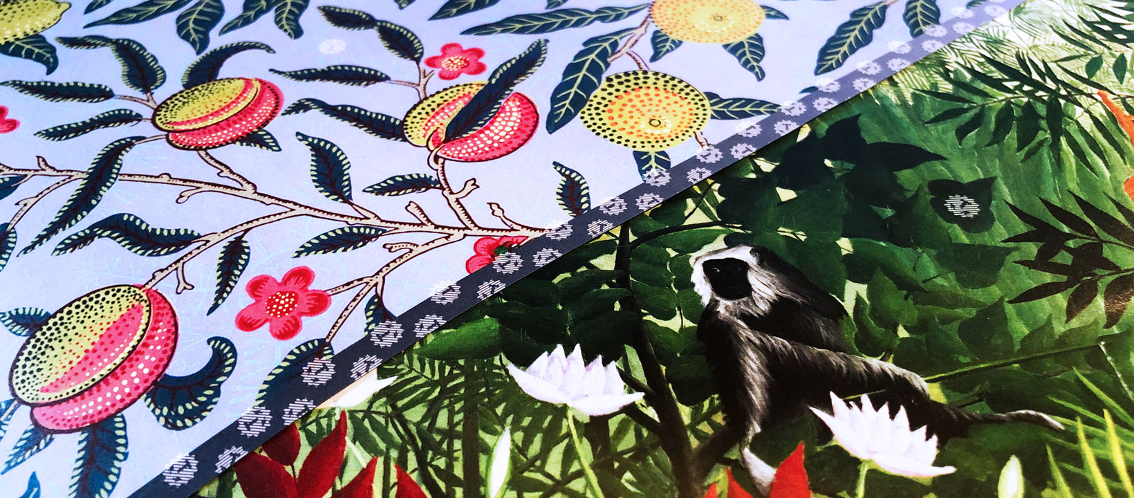 House of Thol giftwrap Henri Rousseau & William Morris