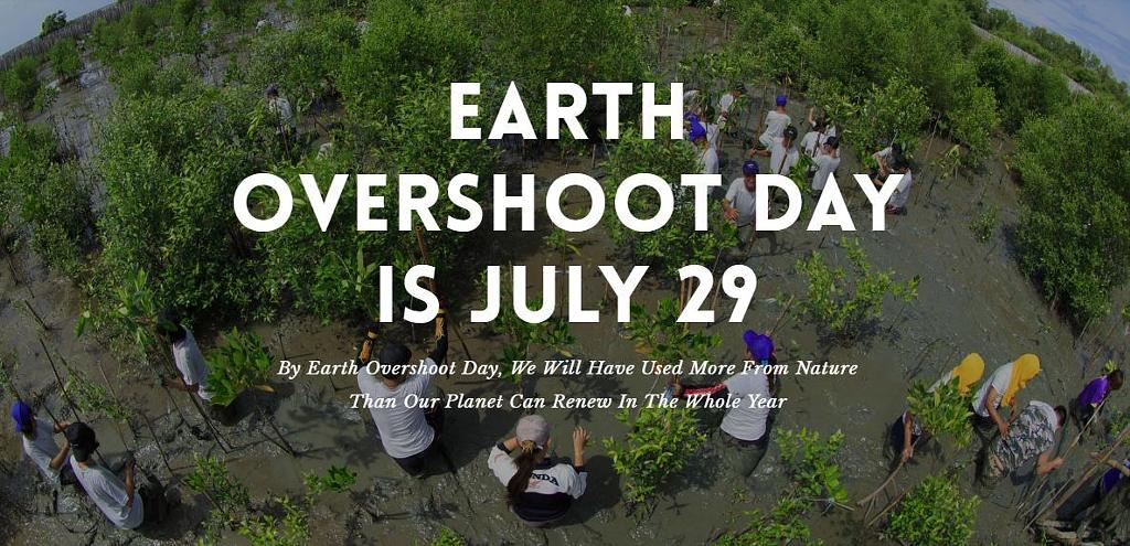 Earth overshoot day was July 29th 2019 - via overshootday.org