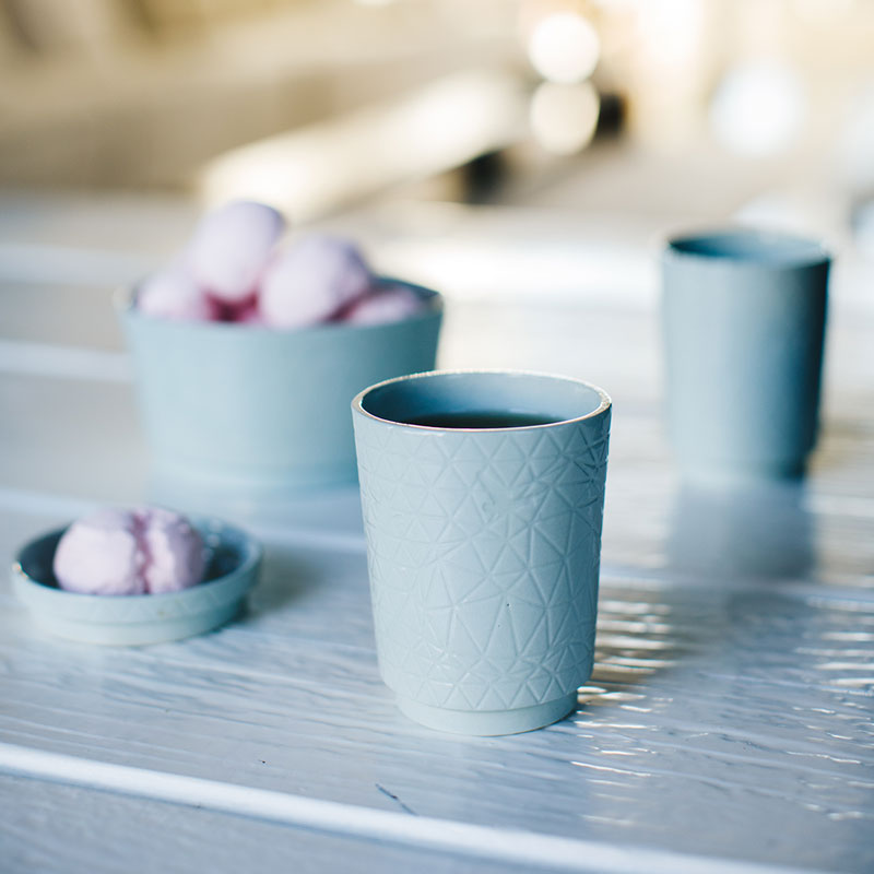 In the Clouds handmade porcelain tableware // design by House of Thol // photograph by Masha Bakker photography