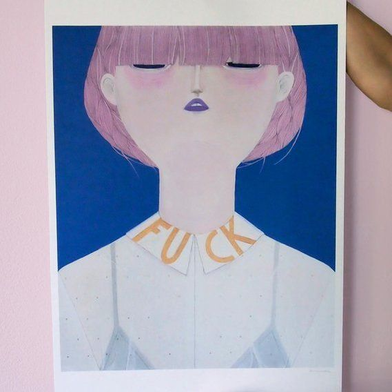 FCK Art print by La Nonette | House of Thol 'Get it at the Creatives' gift guide